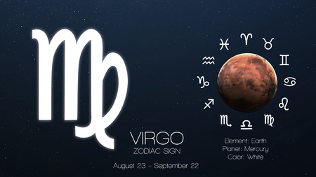 Zodiac sign - Virgo. Cool astrologic infographics.