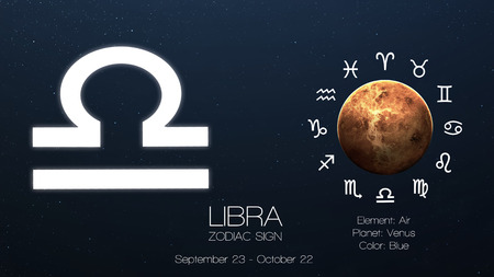 Zodiac sign - Libra. Cool astrologic infographics