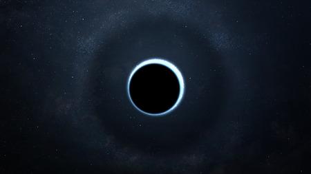 Abstrakter wissenschaftlicher Hintergrund - volle Eklipse, schwarzes Loch. Standard-Bild