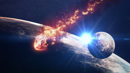 system: escena del universo con planetas, estrellas y galaxias en el espacio exterior que muestran la belleza de la exploración espacial. Foto de archivo