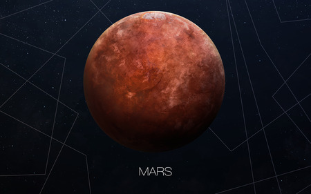 Mars - High resolution images presents planets of the solar system.