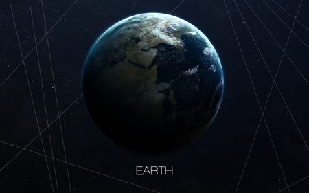 presents: Earth - High resolution images presents planets of the solar system. Stock Photo