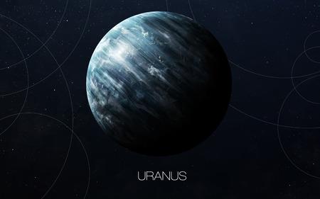 천왕성 - 고해상도 이미지는 태양계 행성을 선물합니다. 스톡 콘텐츠