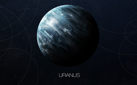 Uranus - High resolution images presents planets of the solar system. Фото со стока - 50429626