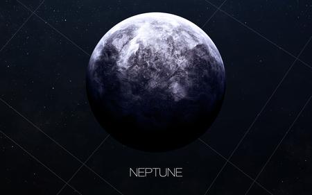 sistema: Neptuno - Im�genes de alta resoluci�n presenta planetas del sistema solar. Foto de archivo