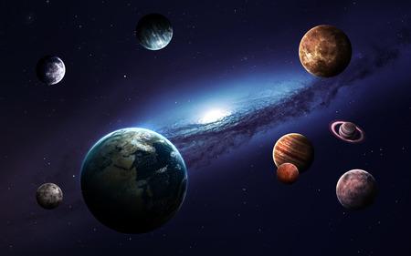 Imágenes de alta resolución presenta planetas del sistema solar. Foto de archivo - 50430091