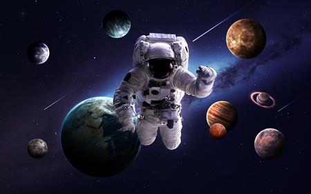 Imágenes de alta resolución presenta planetas del sistema solar. Foto de archivo - 50430095