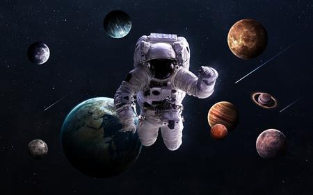 Hochauflösende Bilder präsentiert Planeten des Sonnensystems. Standard-Bild - 50430097