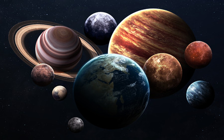 Des images haute résolution présente des planètes du système solaire. Banque d'images - 50430100