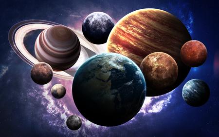 Imágenes de alta resolución presenta planetas del sistema solar.