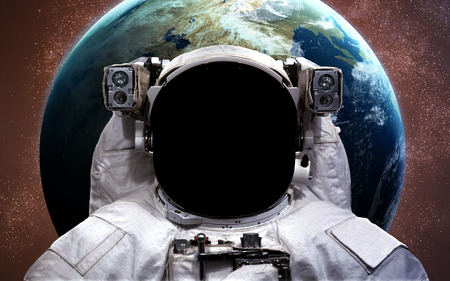 astronaut: Astronaut in outer space. Spacewalk.  Stock Photo