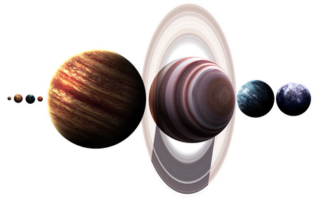 planeten: High resolution images presents planets of the solar system. Lizenzfreie Bilder