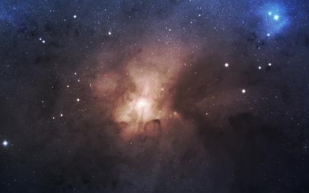 infini fond de l'espace. Matrice des étoiles rougeoyantes avec illusion de la profondeur et de la perspective. Résumé lever de feu cyber dessus de la mer. Résumé univers futuriste sur fond violet foncé. Banque d'images