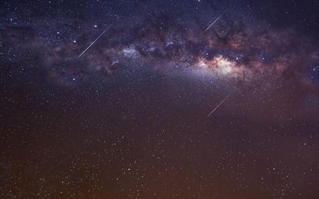 Fondo del espacio infinito con la vía láctea. Foto de archivo