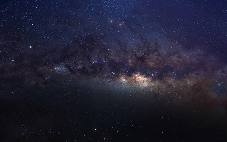 Infinite space background with milky way.  Stock Photo