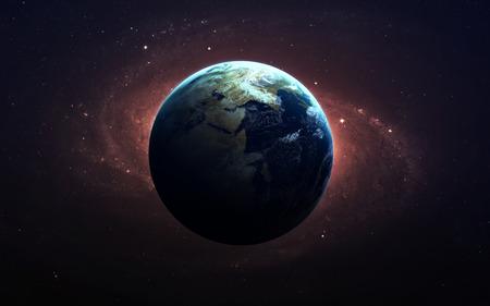 Země z vesmíru. Reklamní fotografie
