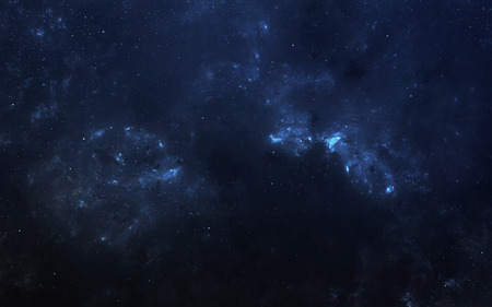 Infinite space background with nebulaes and stars.