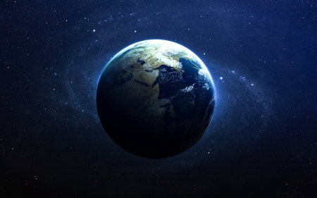 The Earth from space.  스톡 콘텐츠