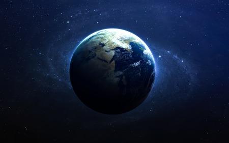 La Tierra desde el espacio. Foto de archivo