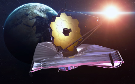 webb: James Webb Space Telescope. Stock Photo