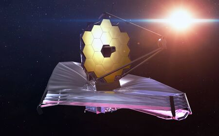 james: James Webb Space Telescope. Stock Photo