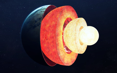 lithosphere: Earth core structure.