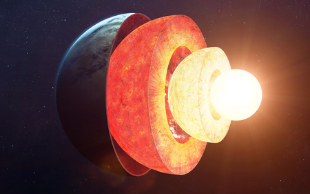 section: Earth core structure.