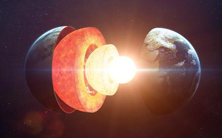 nucleo: estructura del núcleo de la Tierra