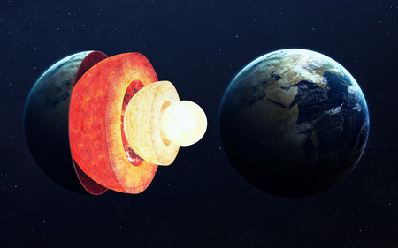 지구 핵 구조.