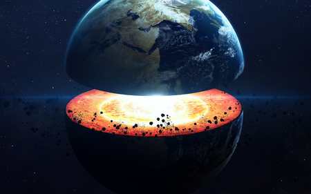mantle: Earth core structure.