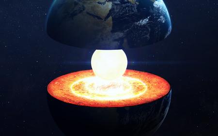 Earth core structure.