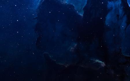 성운과 깊은 공간, 빛나는 신비한 우주에서 별.