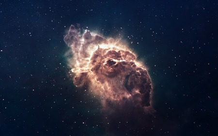 Nebula and stars in deep space, glowing mysterious universe. 스톡 콘텐츠