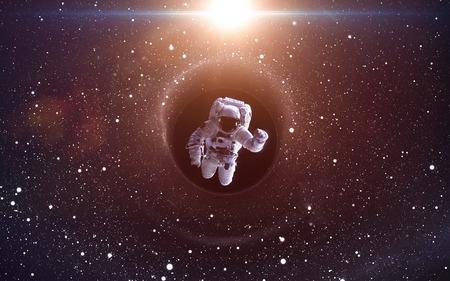 Schwarzes Loch im Weltraum, glühende mysteriösen Universum