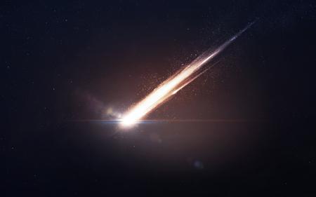 それは輝く流星に入る地球の大気