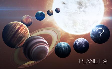 Noveno planeta del sistema solar se abrió. gigante de gas nuevo. Foto de archivo