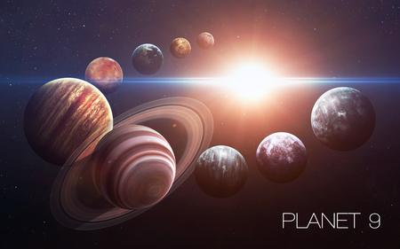 開かれた太陽系の第 9 惑星。新しいガス巨人 写真素材