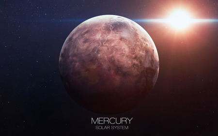 Mercury - High resolution images presents planets of the solar system. Stockfoto