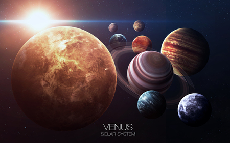 kepler: Venus - High resolution images presents planets of the solar system. Stock Photo