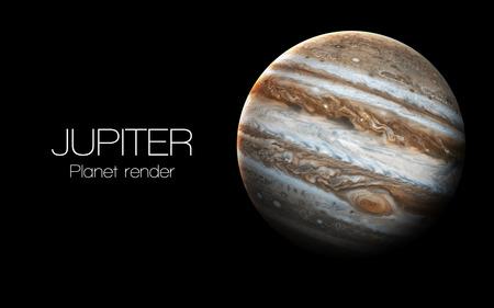 Júpiter - de alta resolución de imágenes en 3D presenta planetas del sistema solar.