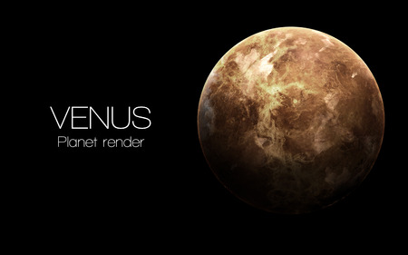 Venus - High resolution 3D images presents planets of the solar system.