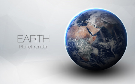 Earth - High resolution 3D images presents planets of the solar system.