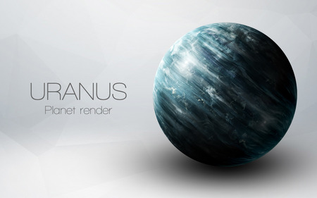 Uranus - High resolution 3D images presents planets of the solar system.