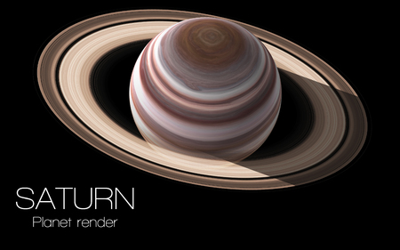 Saturn - High resolution 3D images presents planets of the solar system.
