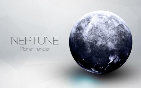 Neptuno - alta resolución de imágenes en 3D presenta planetas del sistema solar.