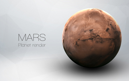 planets: Mars - High resolution 3D images presents planets of the solar system. Stock Photo