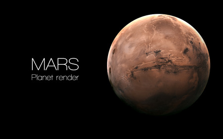 Mars - High resolution 3D images presents planets of the solar system. Foto de archivo