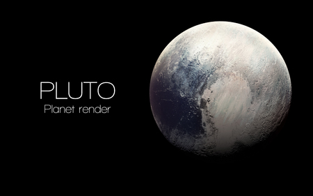 Pluto - High resolution 3D images presents planets of the solar system. 스톡 콘텐츠