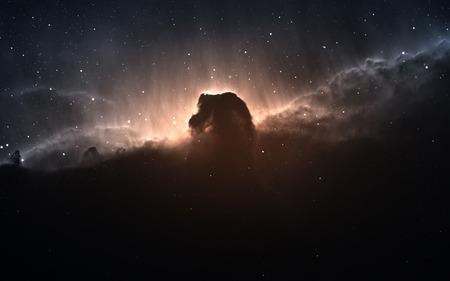 orion: The Horsehead Nebula. Stock Photo