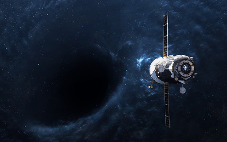 black hole: Black hole in space and spacecraft.